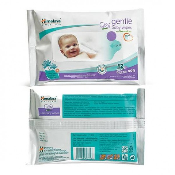 Gentle Extra Soft Baby - Normal skin 12's Wipes Himalaya