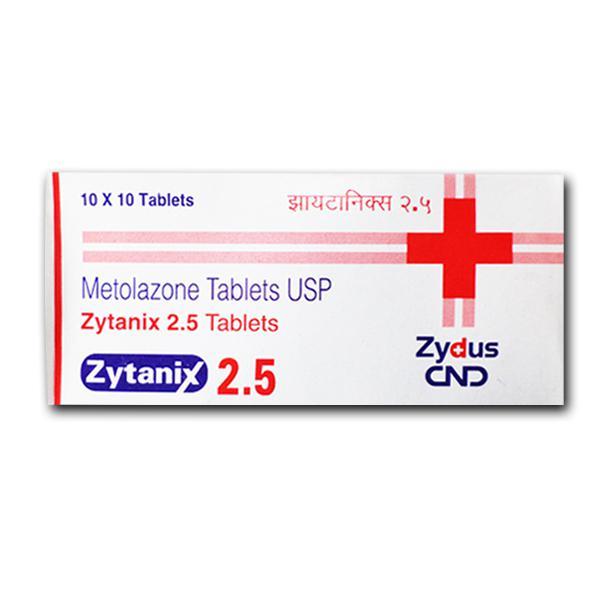 Zaroxolyn Generic 2.5 mg Pill