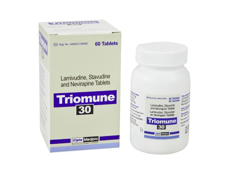 Lamivudine + Stavudine + Nevirapine Generic 150mg/30mg/200mg Pill
