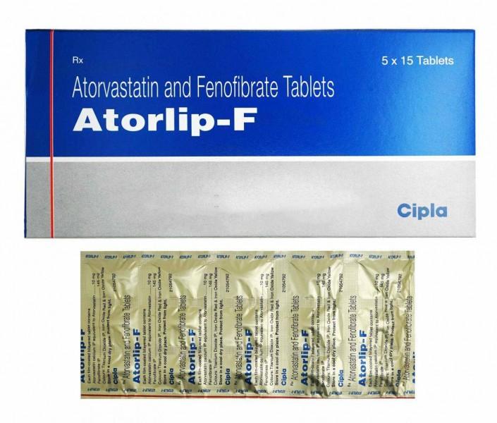 Atorvastatin + Fenofibrate Generic 10mg/145mg Pill