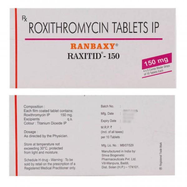 Roxithromycin Generic 150 mg Pill
