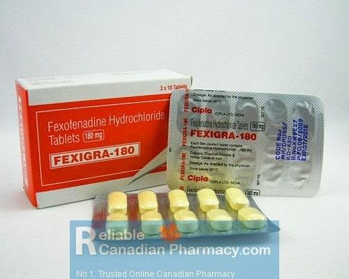Allegra 180mg Tablets  (Generic Equivalent)