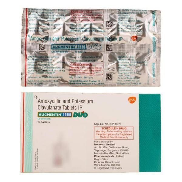 Augmentin 875mg 125mg Tablets ( Name Brand )