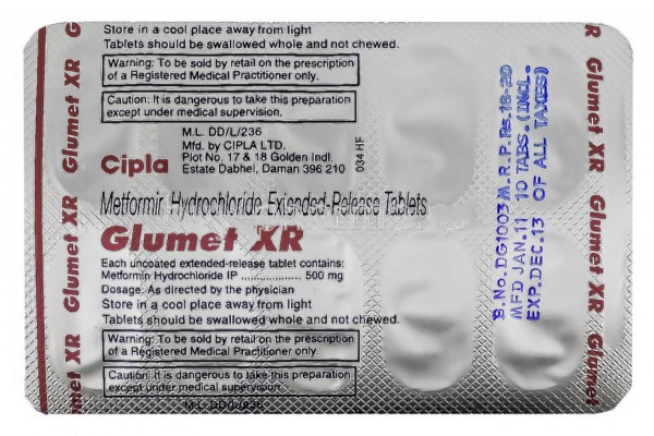 Glucophage XR 500mg Tablets (Generic Equivalent)