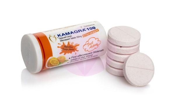 Kamagra 100mg Effervescent Tablets (Generic Viagra)