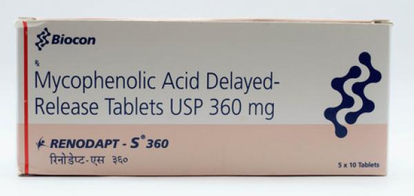 CellCept Generic 360 mg Pill