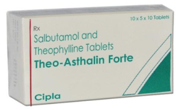 Albuterol (4mg) + Theophylline (200mg) Generic Pill