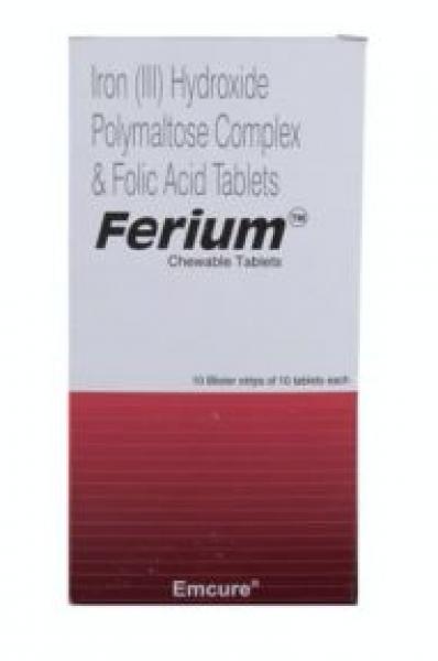 Elemental Iron 100 mg and Folic Acid 350 mcg Generic Chewable Pill