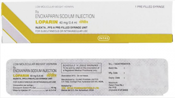 Clexane Generic 40 mg / 0.4 mL Prefilled Injection