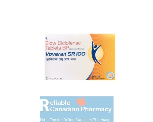 Voltaren sr 100mg tablet (Branded product), MARKETED INTERNATIONALLY as VOVERAN sr